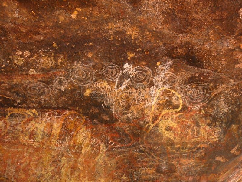 Basculez l'art chez Ubirr, parc national de kakadu, Australie photos stock