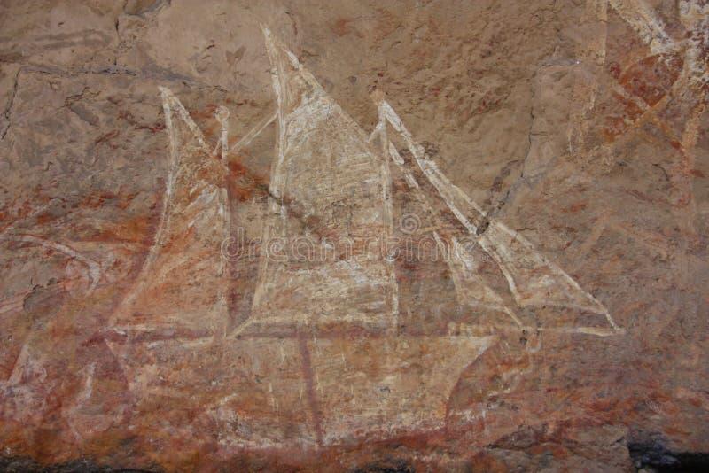 Basculez l'art chez Ubirr, parc national de kakadu, Australie images libres de droits