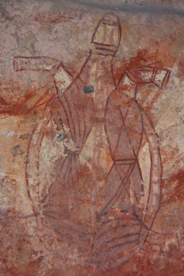 Basculez l'art chez Ubirr, parc national de kakadu, Australie image libre de droits
