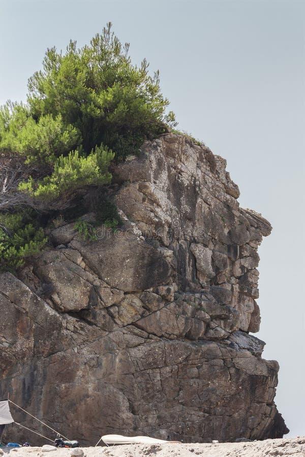 Basculez sur l'île de Corfou dépeignant le chiffre d'un ch indien image libre de droits