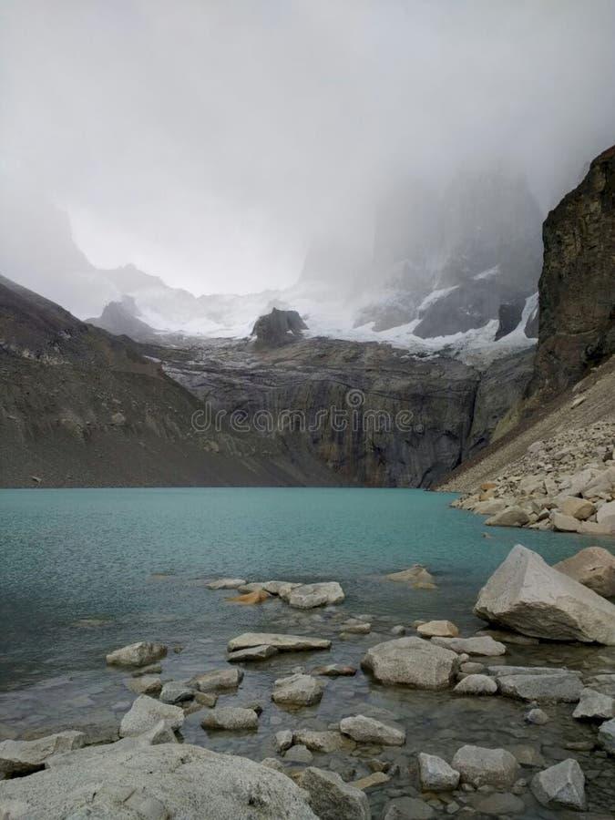 Base 'da vigia de Torres del Paine ' imagem de stock