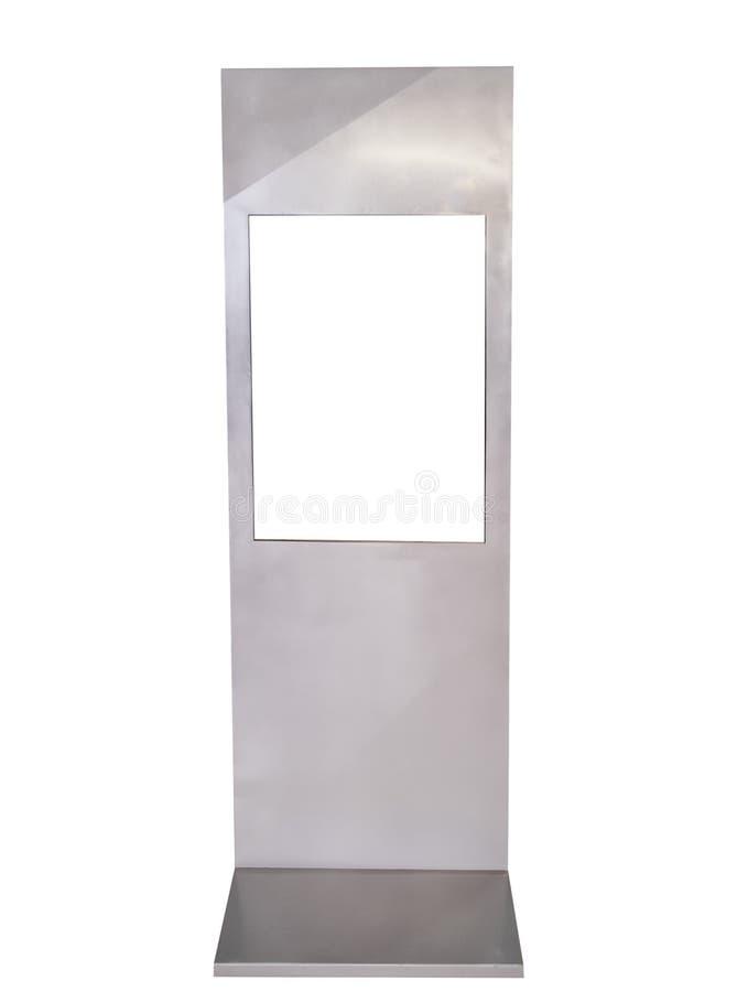 A base assina a propaganda de alumínio quadrada fotografia de stock
