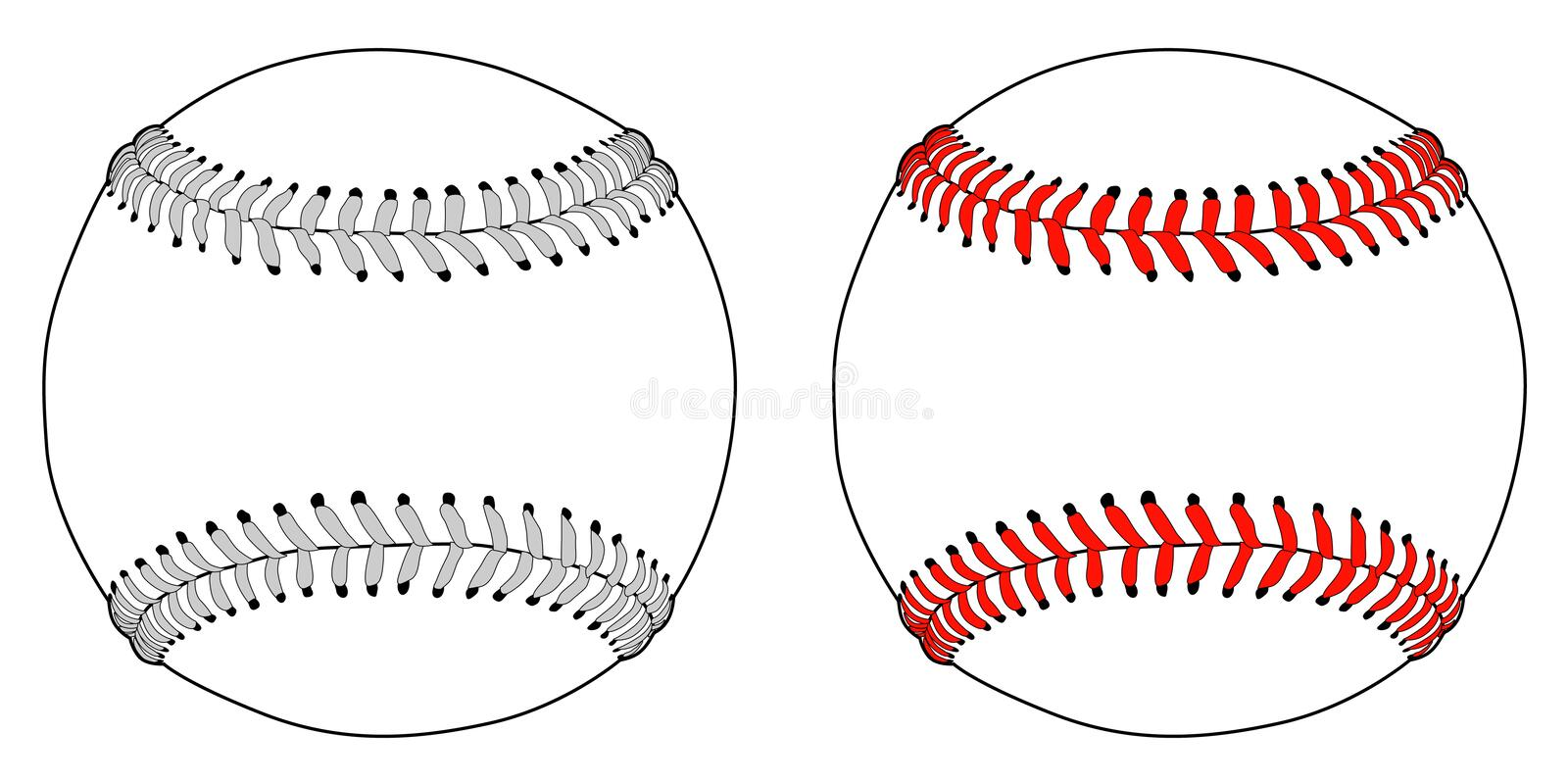 Base-ball illustration de vecteur