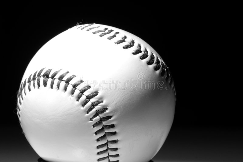 Base Ball. Single light source picture of a base ball royalty free stock photo