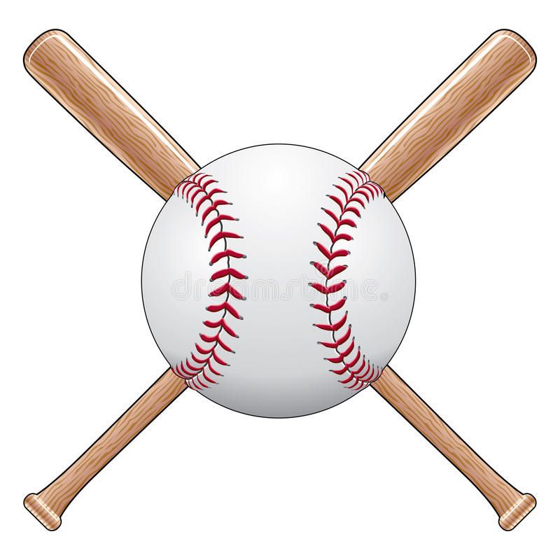 Base-ball avec 'bat' illustration de vecteur