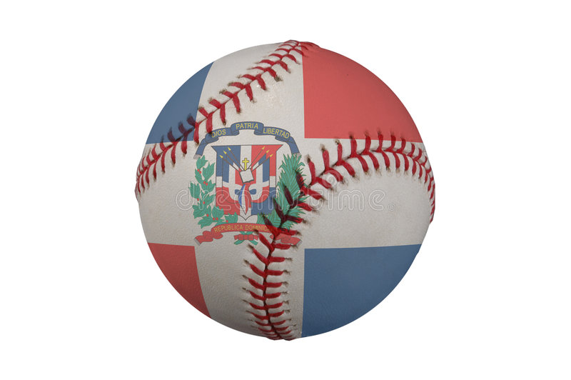 Base-ball avec l'indicateur de la république dominicaine illustration libre de droits