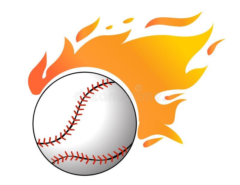 Base-ball avec le vecteur de flammes illustration libre de droits
