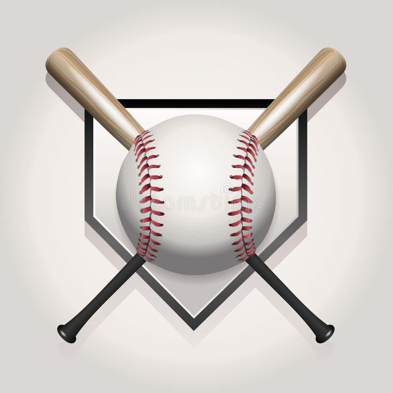 Base-ball, batte, illustration de Homeplate illustration libre de droits