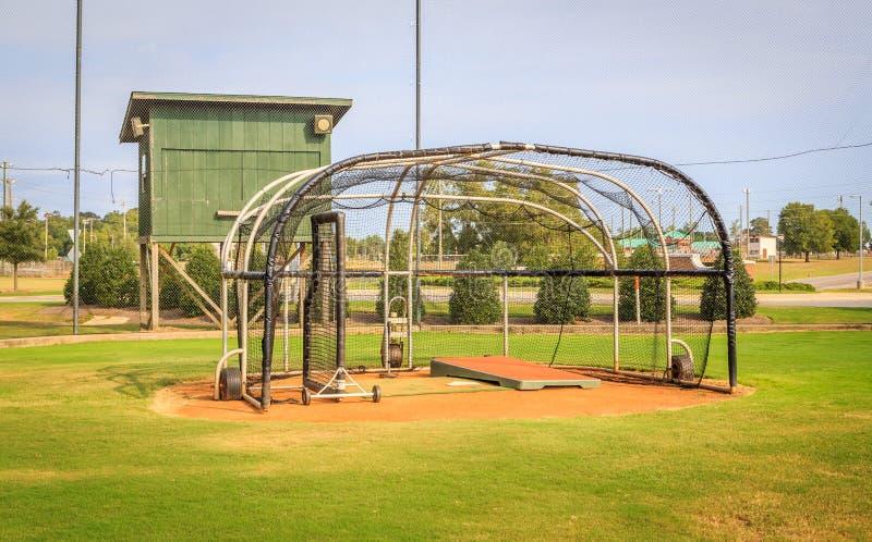 Base-ball Batter& x27 ; cage de s photo stock