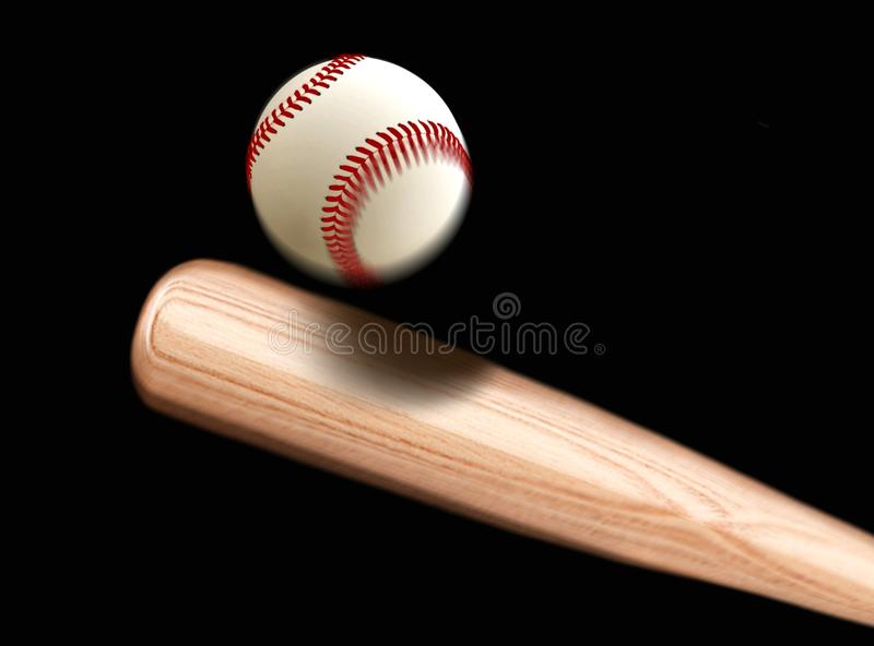 Base-ball Bet Hitting Ball photo libre de droits