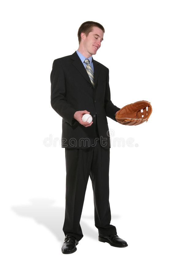 Base-ball d'homme d'affaires photographie stock libre de droits