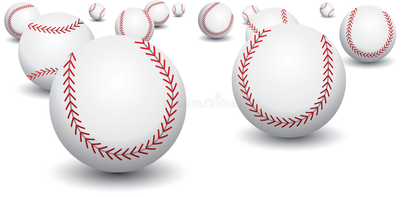 base-ball d'isolement illustration stock