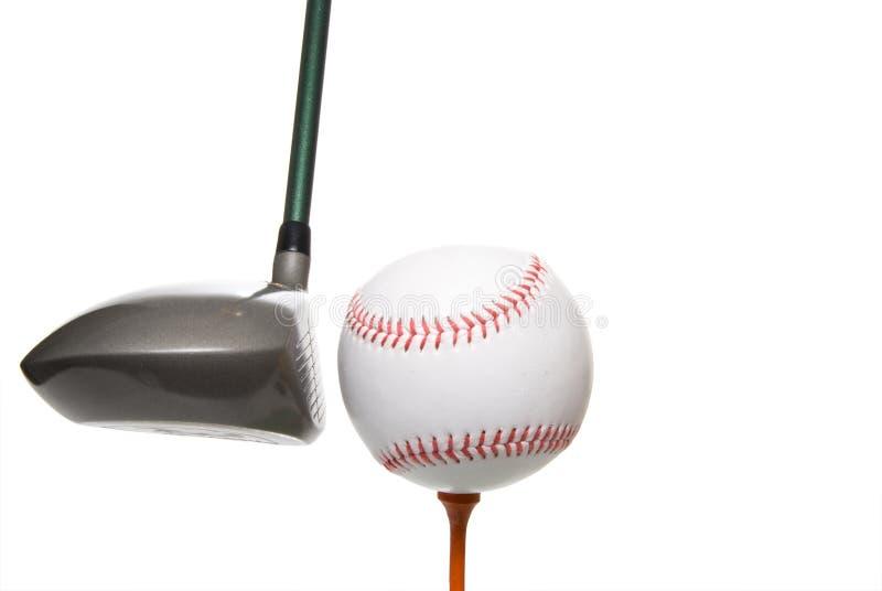 Base-ball de golf photographie stock libre de droits