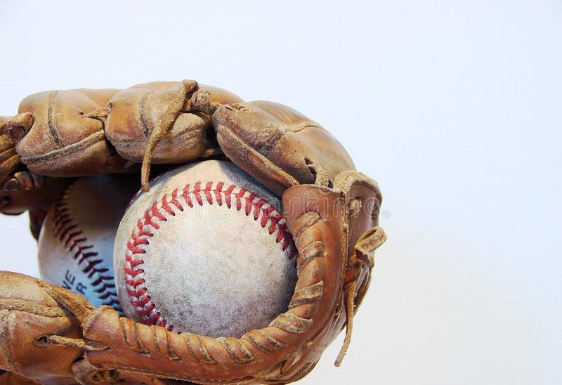 Base-ball et gant images stock