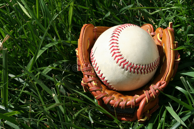 Base-ball et gant photos libres de droits