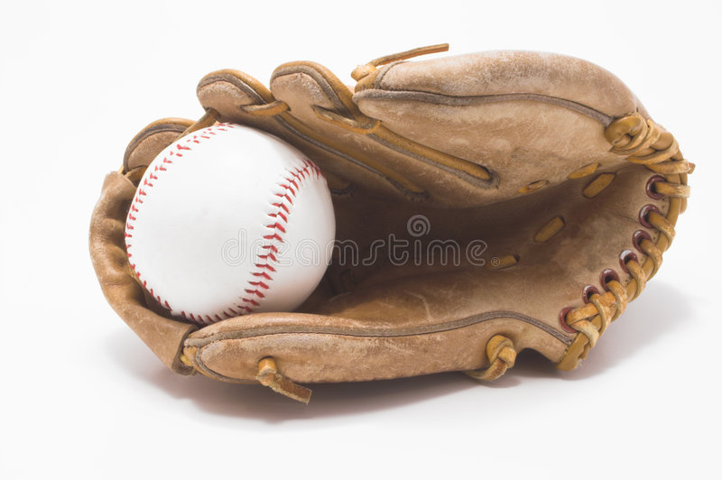 Base-ball et gant de base-ball photographie stock
