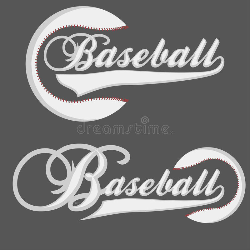 Base-ball Logotpe illustration libre de droits