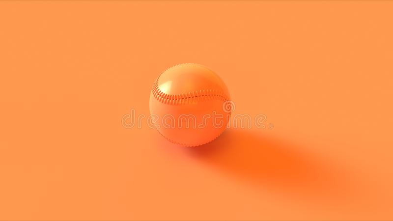 Base-ball orange courbe illustration libre de droits