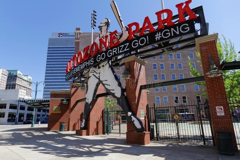 Base ball stadium in Memphis royalty free stock photos