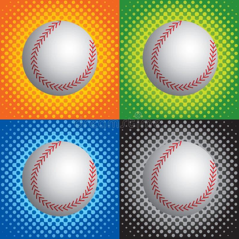 Base-ball tramés illustration libre de droits