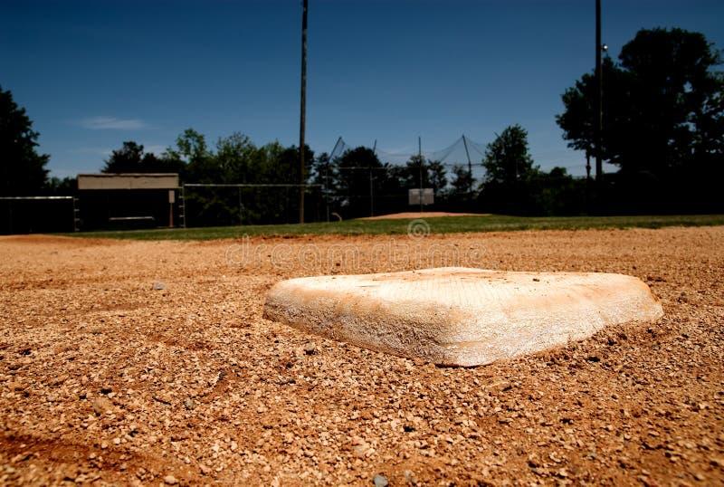 base baseballfält för påse second royaltyfria foton
