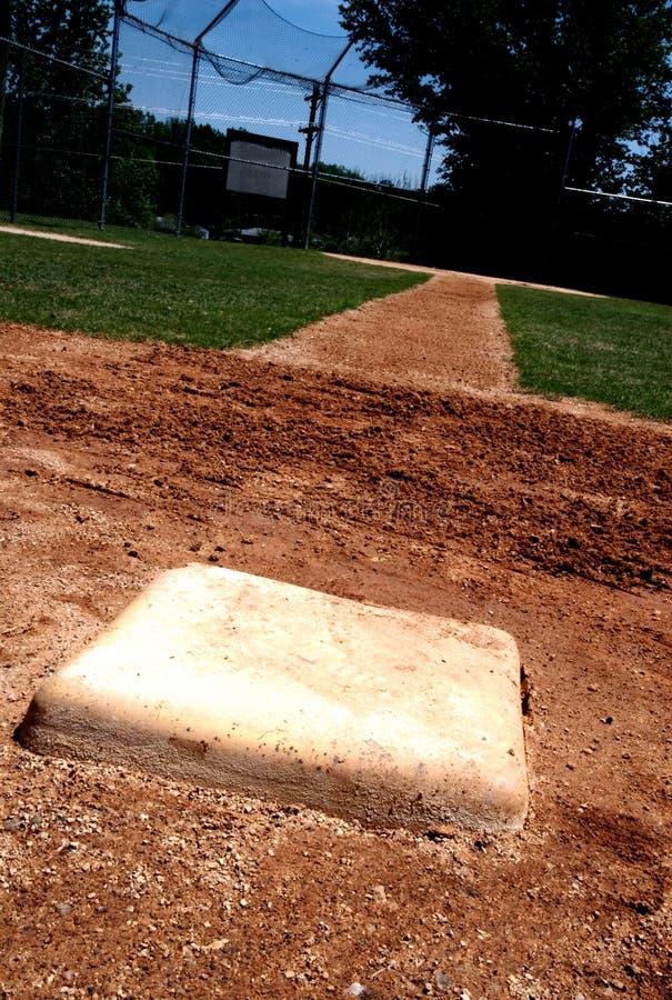 base baseballfält först royaltyfria foton