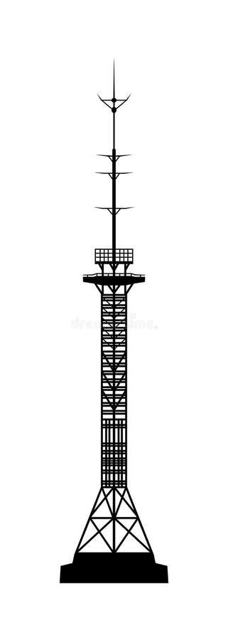 base blåa mobila telekommunikationar för telefonskystation tower vektor illustrationer