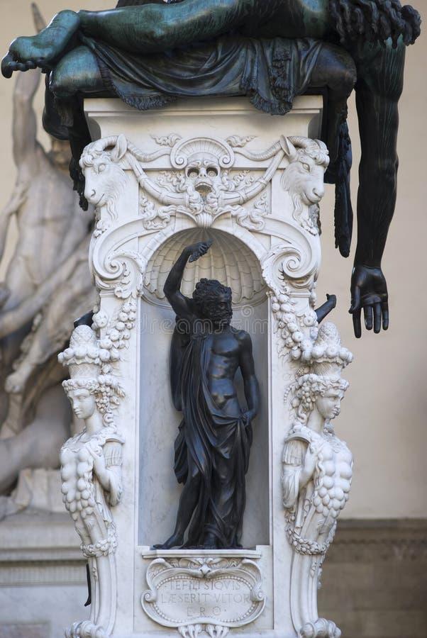 Base da estátua de Perseus imagens de stock royalty free