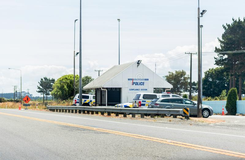 A base da patrulha de Ohakea da polícia pesa a estação fotos de stock