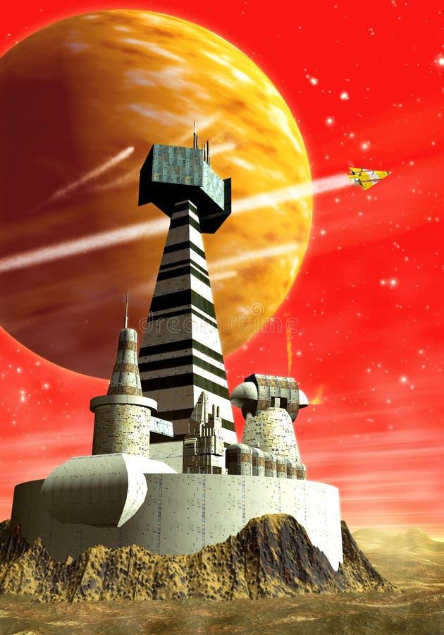Base das naves espaciais ilustração royalty free