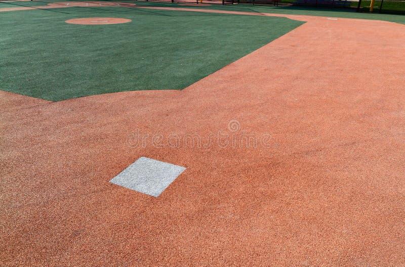 Base de campo de basebol segundo fotos de stock royalty free