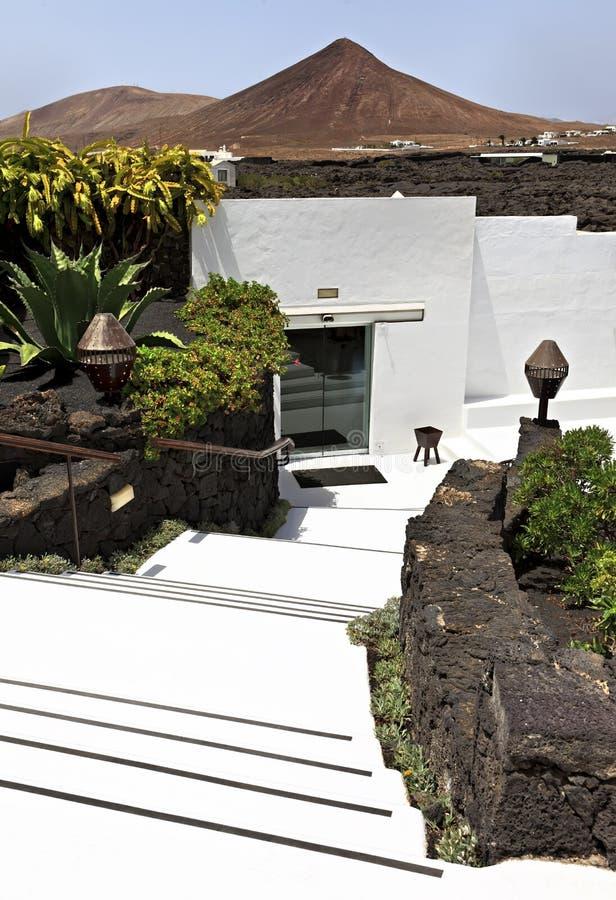 Base de Cesar Marique, Tahiche, Lanzarote photo stock