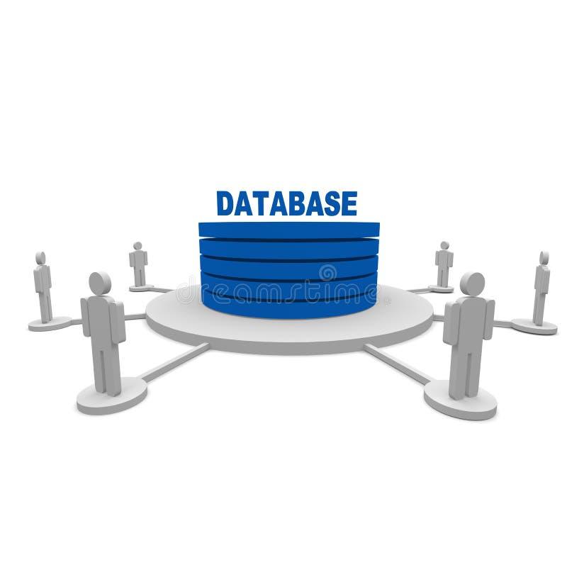 Base de dados ilustração royalty free