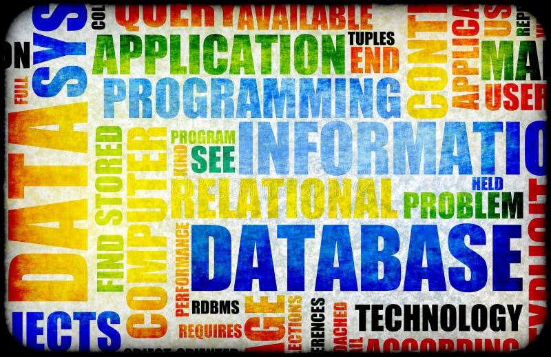 Base de dados ilustração stock