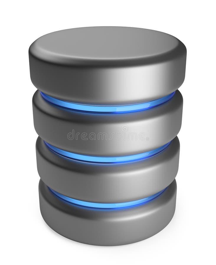 Base de dados. Conceito do armazenamento. ícone 3D isolado ilustração do vetor