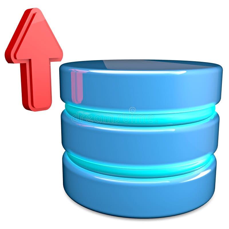 Base de dados da transferência de arquivo pela rede ilustração royalty free