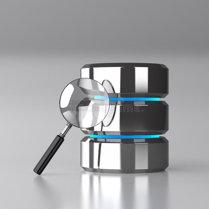 Base de dados e conceito da segurança dos dados do computador ilustração stock