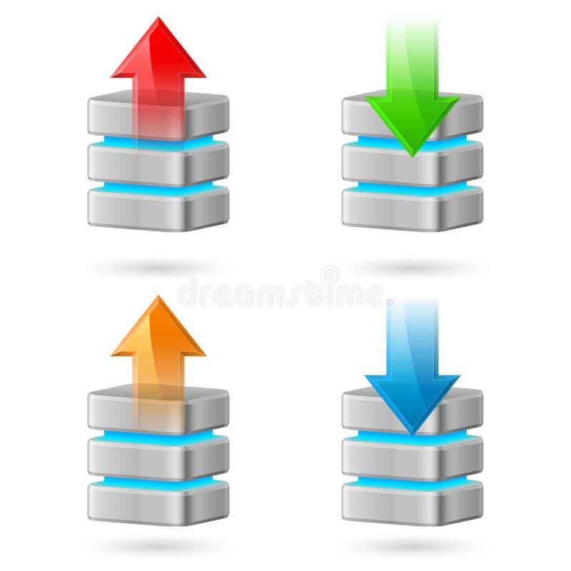 Base de datos stock de ilustración