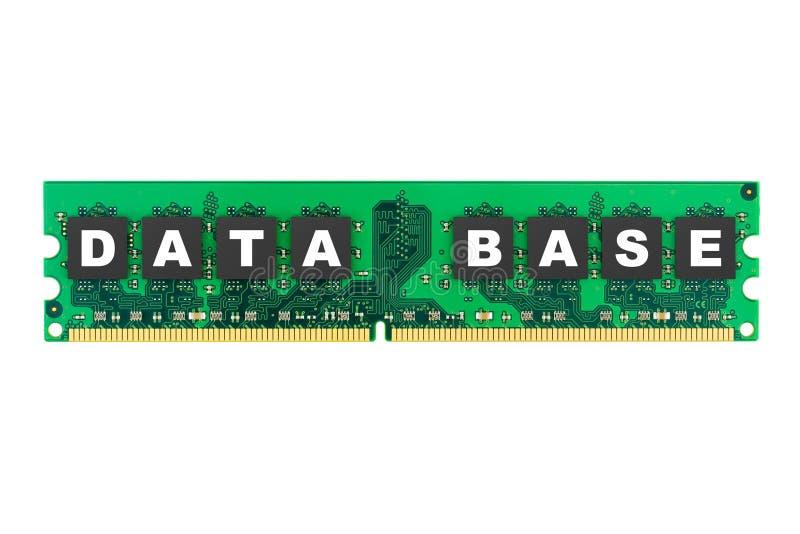Base de datos de la palabra en memoria de computadora imagen de archivo