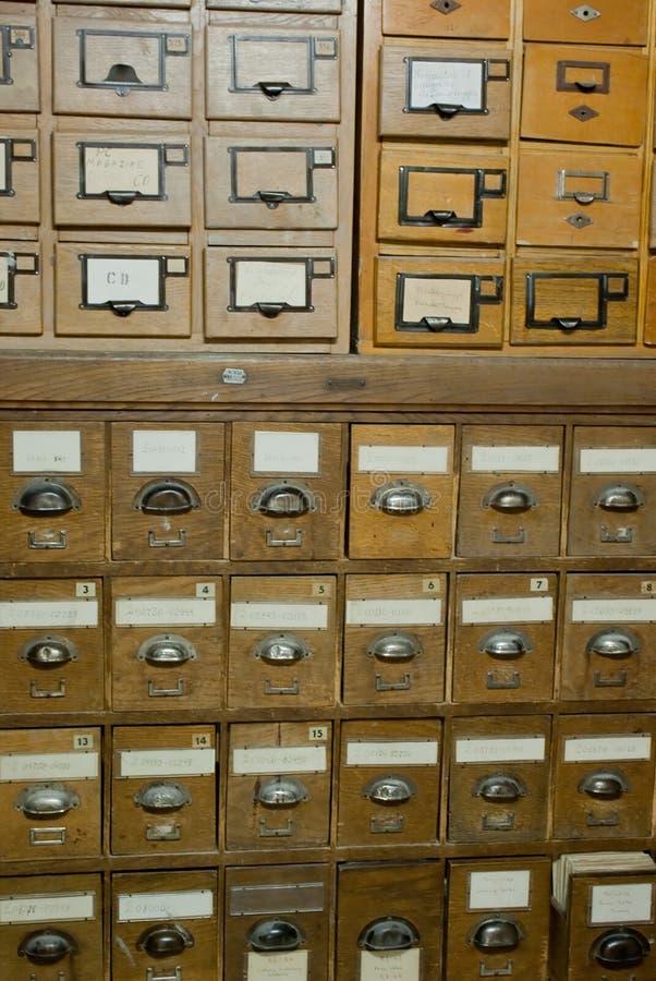 Base de datos de la vendimia de la biblioteca, archivos foto de archivo libre de regalías