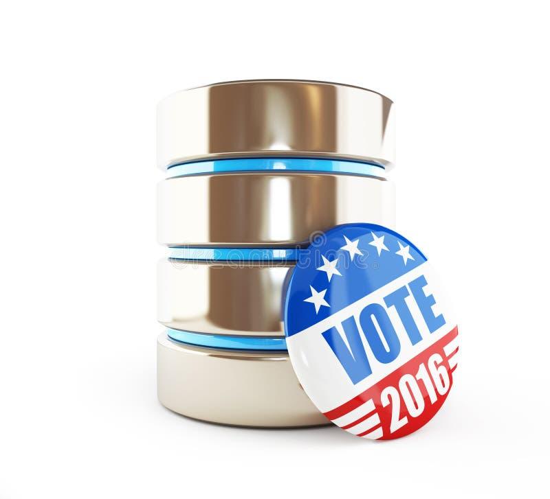 Base de datos de votantes en los E.E.U.U. 2016 ilustración del vector