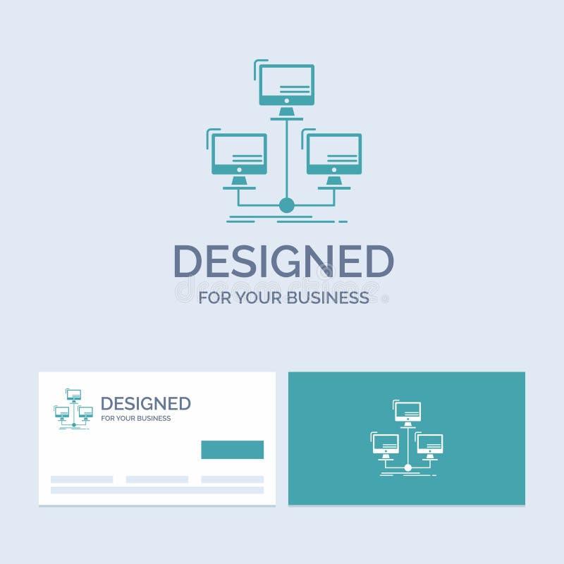 base de datos, distribuida, conexión, red, empresa informática Logo Glyph Icon Symbol para su negocio Tarjetas de visita de la tu ilustración del vector