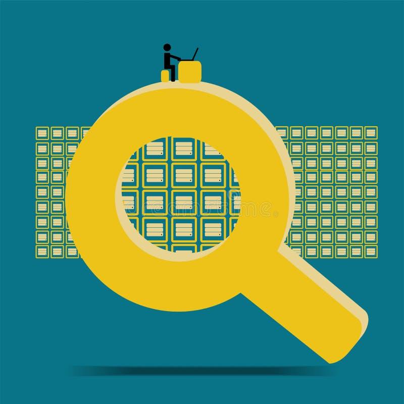Base de datos grande de la pregunta y de la búsqueda de los datos stock de ilustración