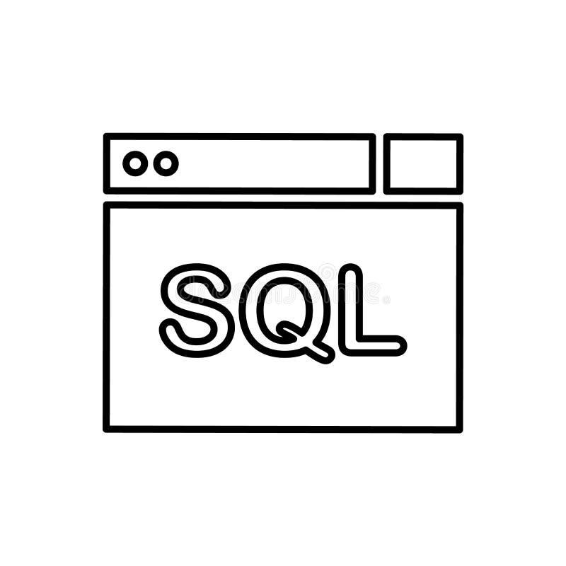 Base de datos, icono del servidor - vector Icono del vector de la base de datos ilustración del vector