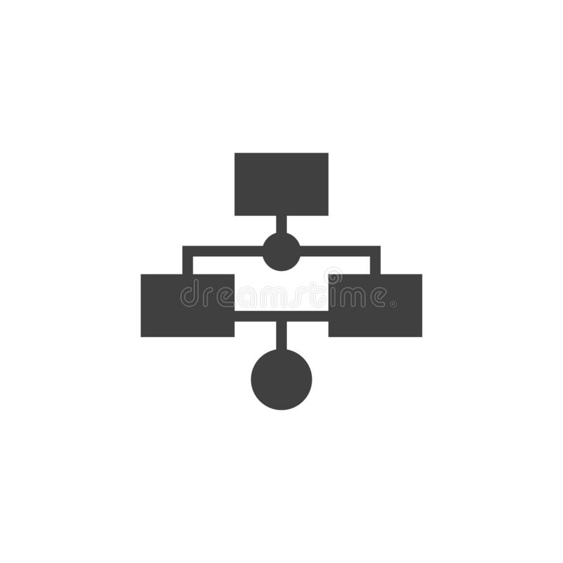 Base de datos, servidor, icono del vector del flujo de trabajo Elemento de los datos para el ejemplo m?vil de los apps del concep ilustración del vector