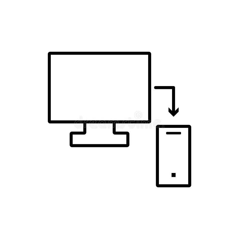 Base de datos, servidor, icono responsivo - vector Icono del vector de la base de datos ilustración del vector
