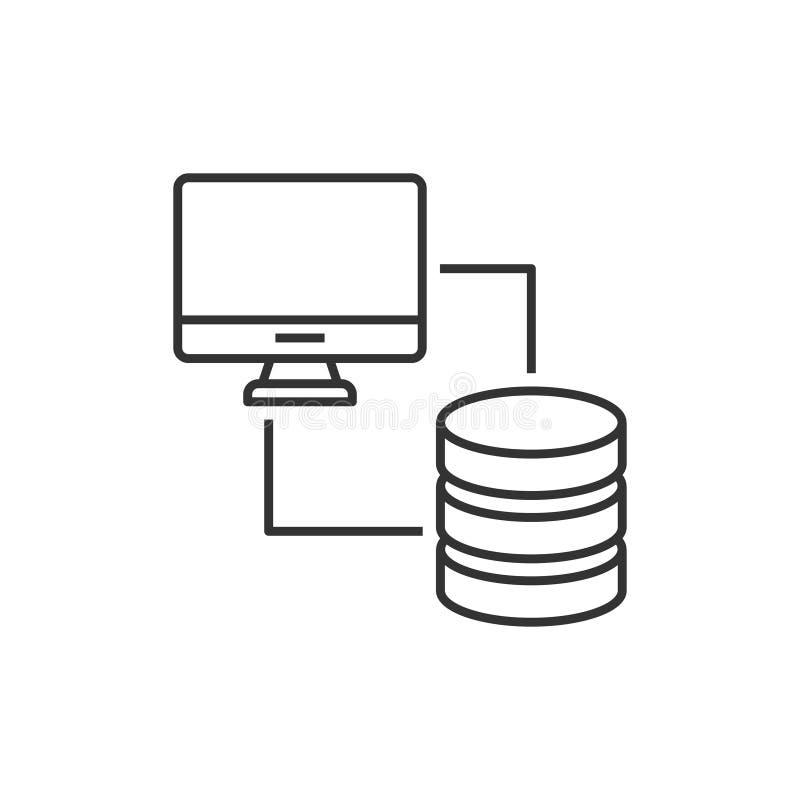 Base de datos sincronizada con el ordenador libre illustration