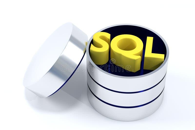 Base de données de SQL illustration stock