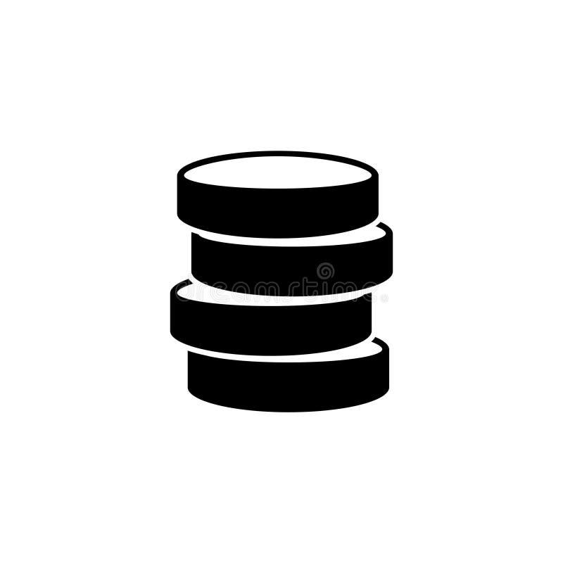 Base de données, icône plate de vecteur de stockage de données illustration stock