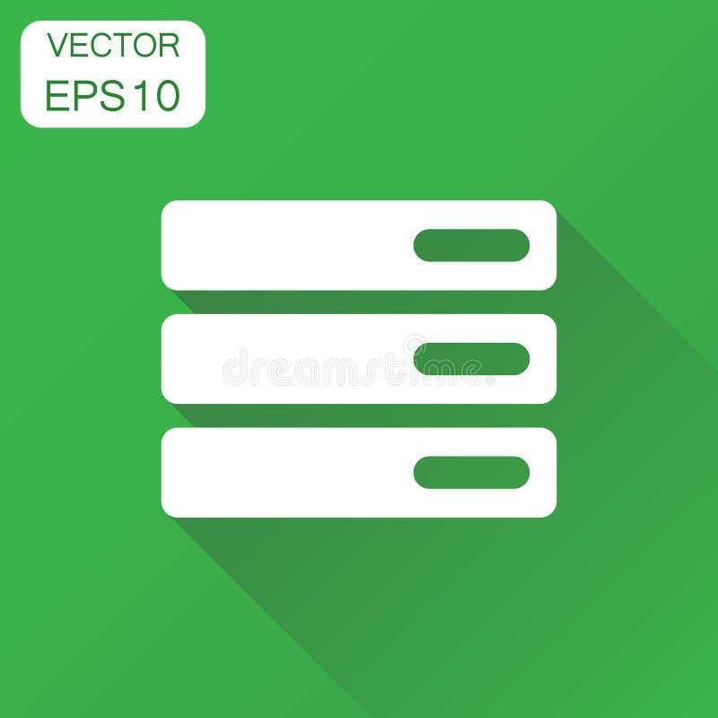 Base de données, icône de serveur Pictogramme de stockage de concept d'affaires Vecto illustration stock
